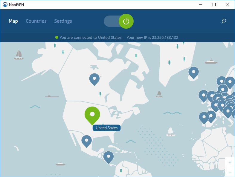 NordVPN Map with Server Locations