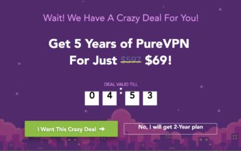 PureVPN Big Deal - Exit Pop Up